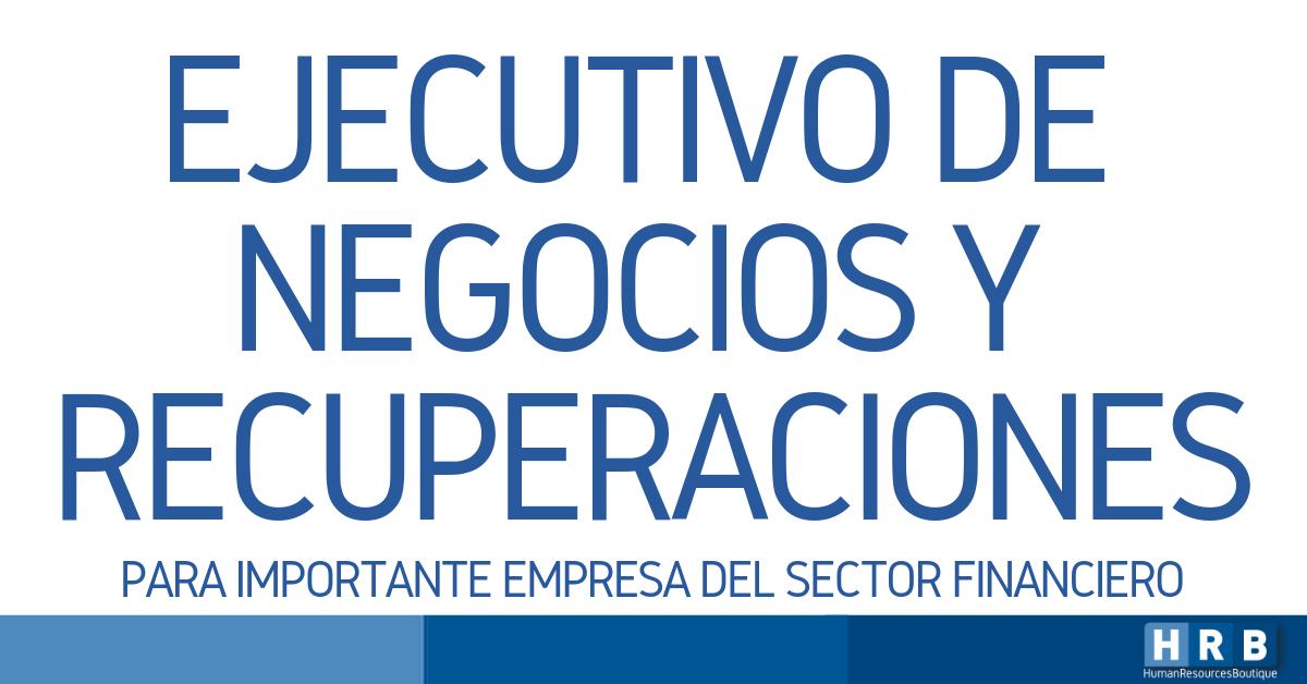 EJECUTIVO DE NEGOCIOS Y RECUPERACIONES
