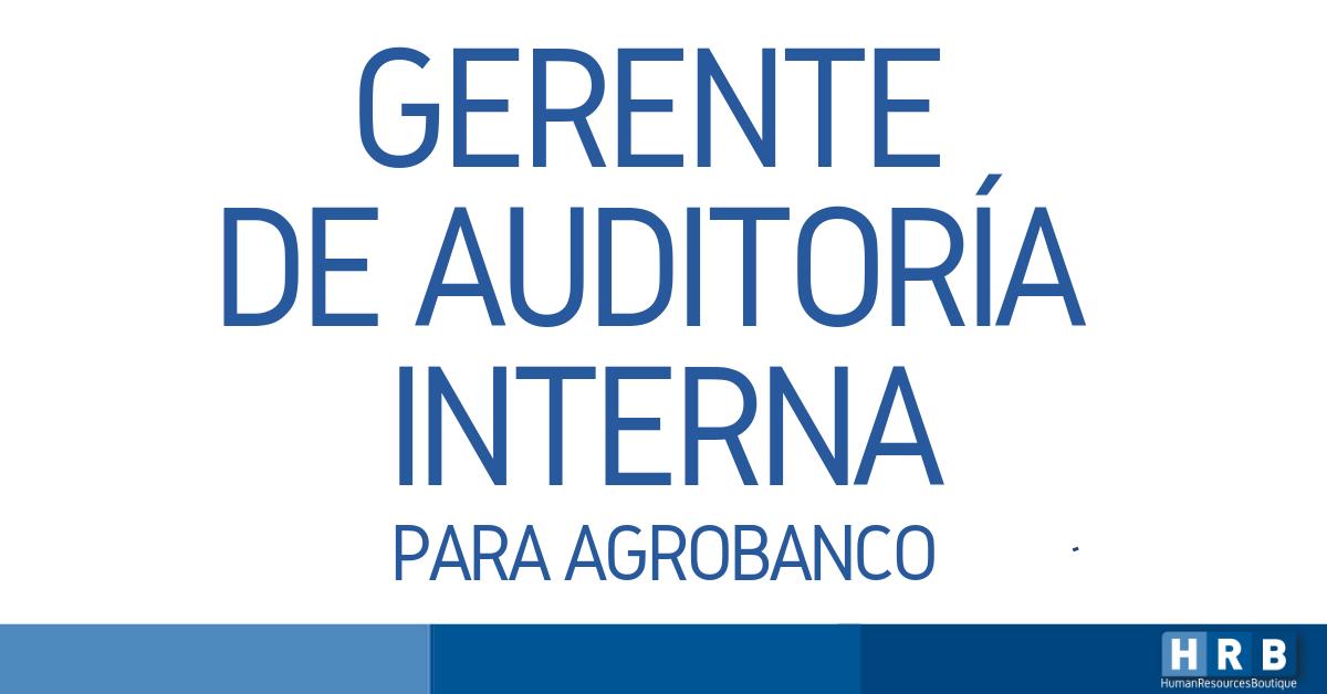 GERENTE DE AUDITORÍA INTERNA