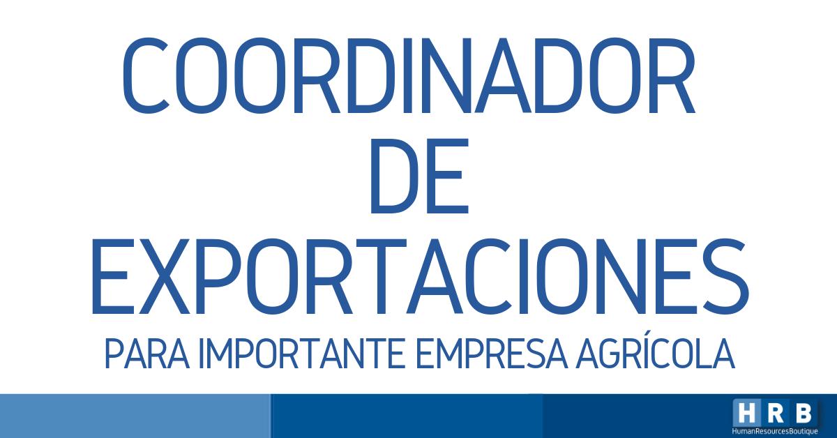 COORDINADOR DE EXPORTACIONES