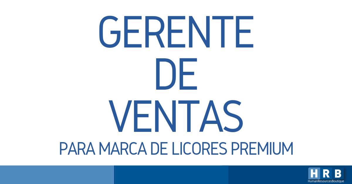 GERENTE DE VENTAS