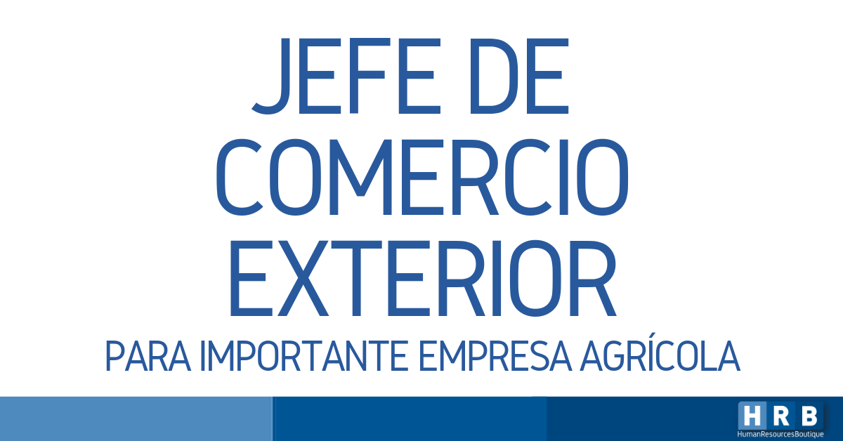 JEFE DE COMERCIO EXTERIOR