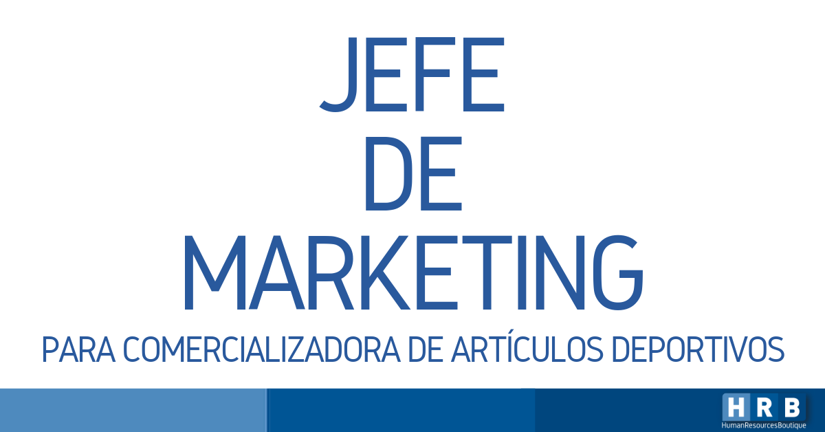 JEFE DE MARKETING