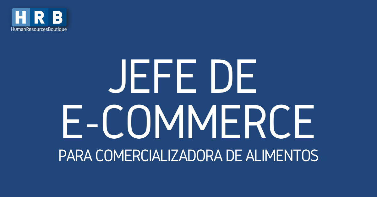 JEFE DE E-COMMERCE