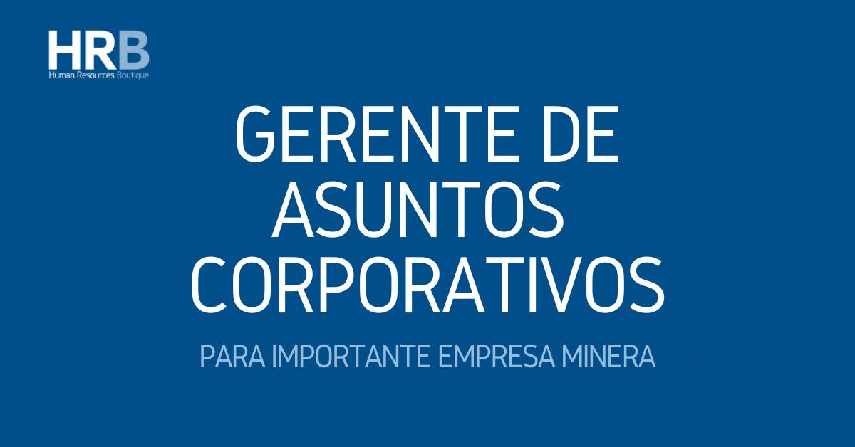 GERENTE DE ASUNTOS CORPORATIVOS