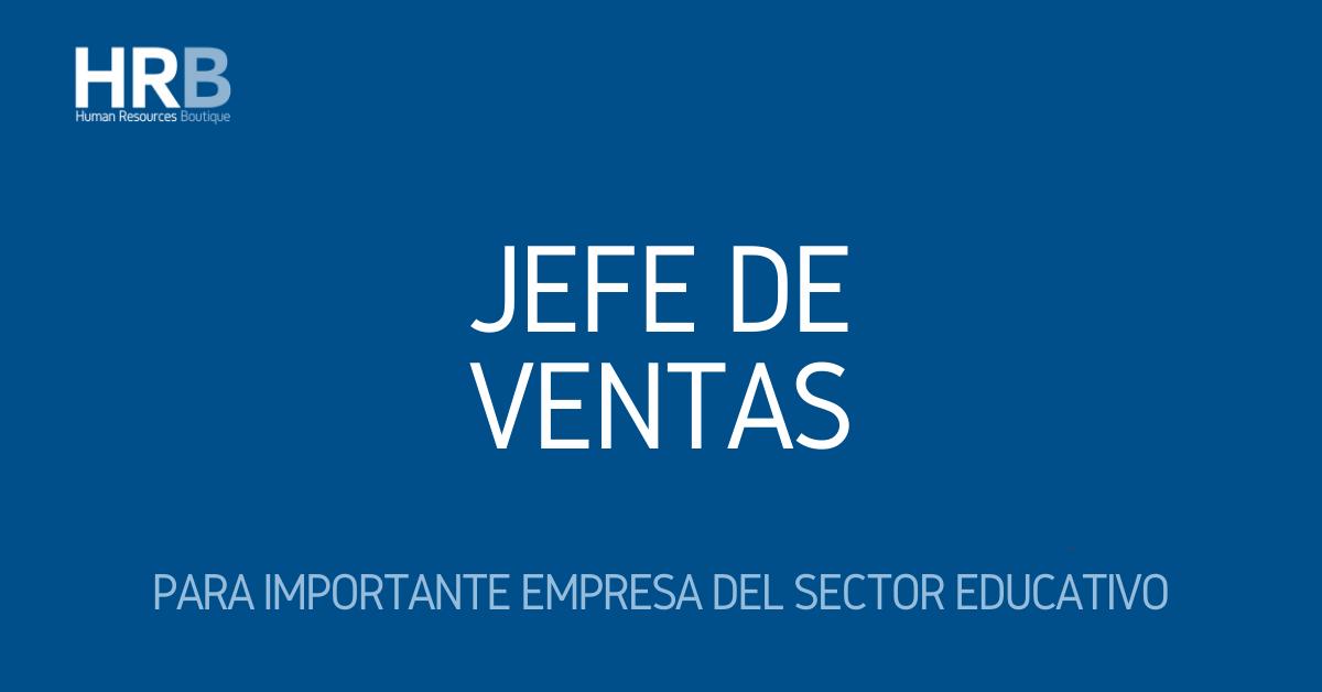 JEFE(A) DE VENTAS