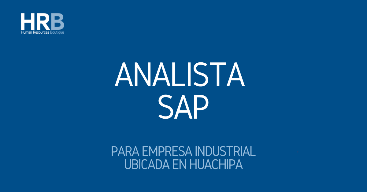 ANALISTA SAP
