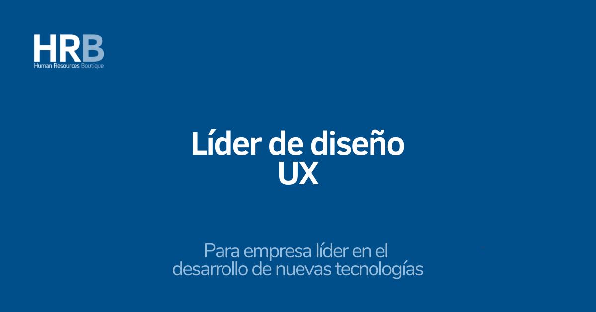Líder de diseño UX